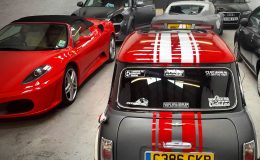 Chrome Ferrari, Window Tinting Manchester, Window Tints manchester, Window tinting, Car Tints, Car tinting, vehicle tinting, vehicle tints, abersoch, trafford park, manchester, prestige wrapping, vehicle wrapping manchester, car wrapping manchester, lights tinted, de-chrome manchester
